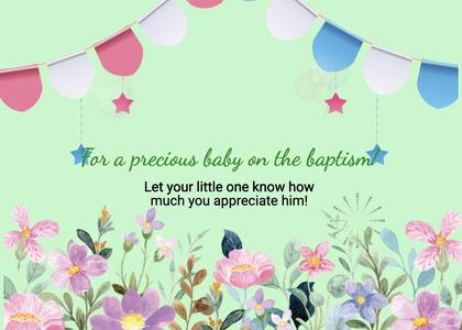 baptism card 52 envelope mail