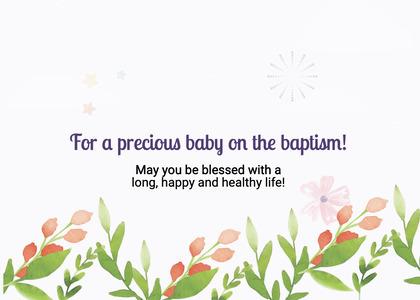 baptism card 53 plant floraldesign