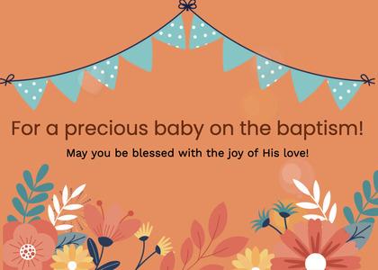 baptism card 55 floraldesign graphics