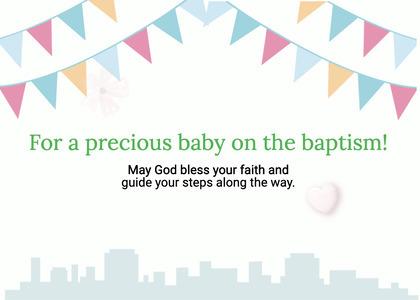 baptism card 57 envelope paper