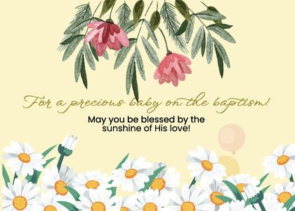 baptism card 63 plant floraldesign