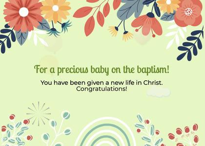 baptism card 64 floraldesign graphics