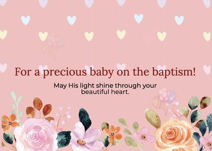 baptism card 65 envelope mail
