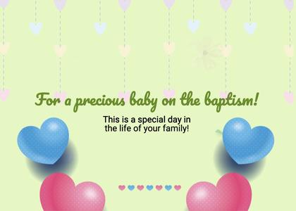baptism card 66 greeting card envelope