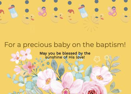 baptism card 67 envelope mail