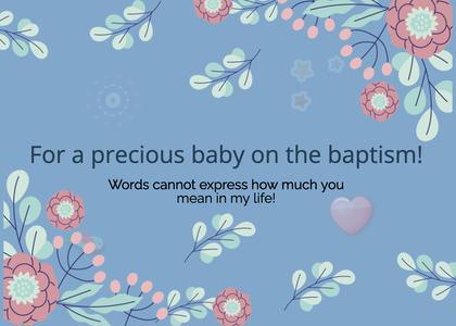 baptism card 69 graphics art