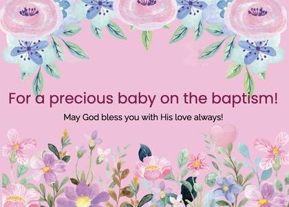 baptism card 71 envelope mail