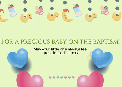 baptism card 72 page text