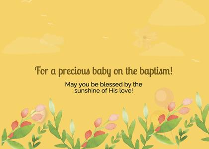 baptism card 73 graphics art