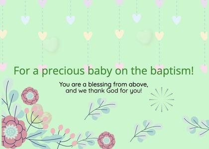 baptism card 74 envelope mail