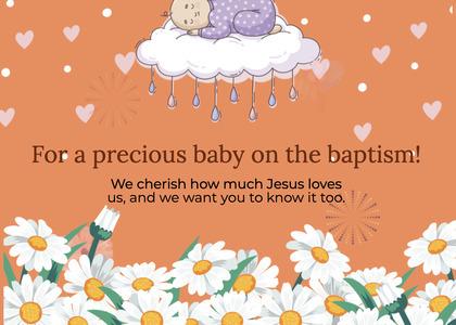 baptism card 75 advertisement poster