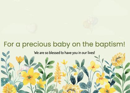 baptism card 77 floraldesign graphics