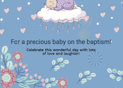 baptism card 78 graphics art