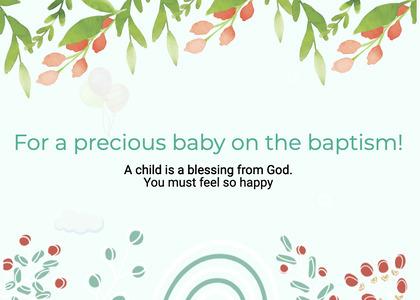 baptism card 81 graphics art