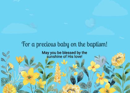 baptism card 82 floraldesign graphics