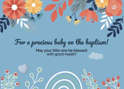 baptism card 86 floraldesign graphics