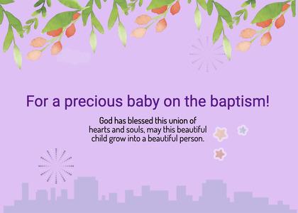 baptism card 88 paper flyer