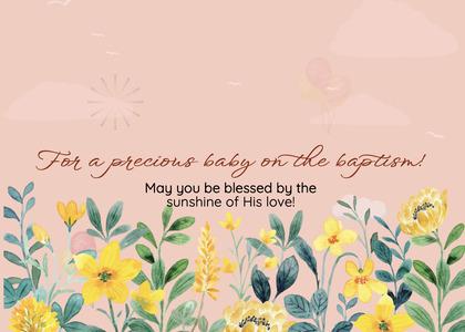 baptism card 91 floraldesign graphics