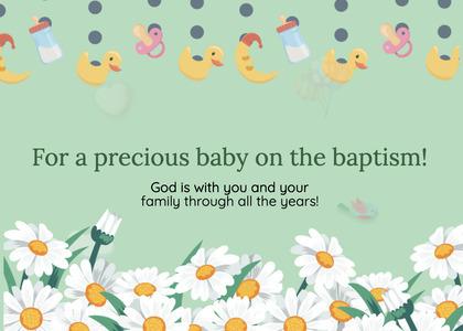 baptism card 92 daisy daisies