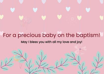 baptism card 96 plant text