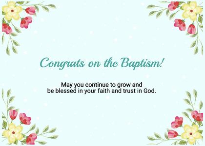 baptism card 97 floraldesign graphics