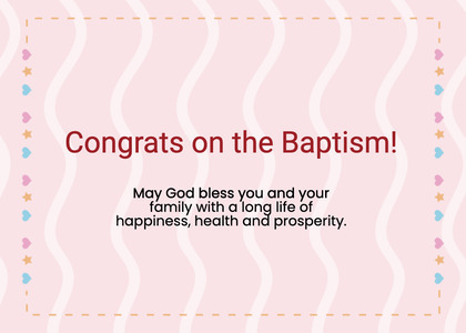 baptism card 99 text paper