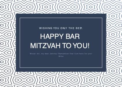 barmitzvah card 1 business card text