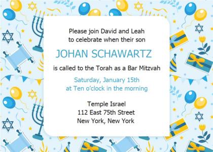barmitzvah card 15 flyer paper