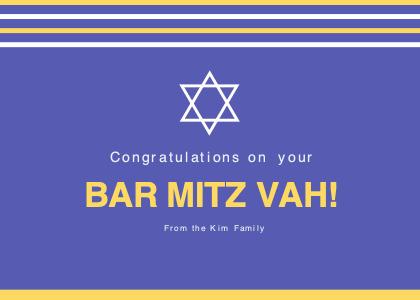 barmitzvah card 3 text paper