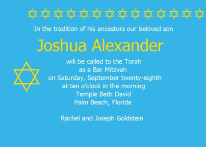barmitzvah card 7 text flyer