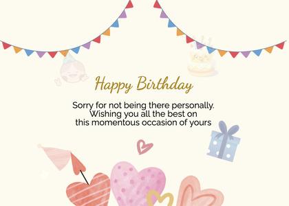 birthday card 100 flyer advertisement