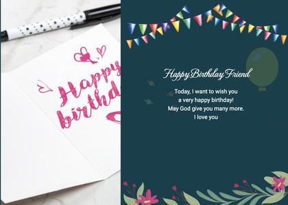 birthday card 13 text flyer