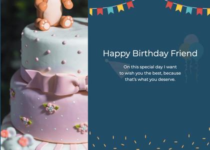 birthday card 14 cake dessert