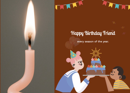 birthday card 16 candle fire