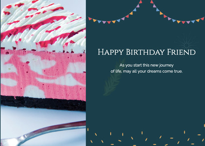 birthday card 18 dessert food
