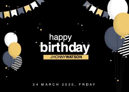 birthday card 2 poster advertisement