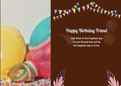 birthday card 21 balloon ball