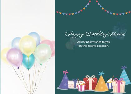 birthday card 23 ball balloon