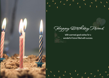 birthday card 24 candle cake