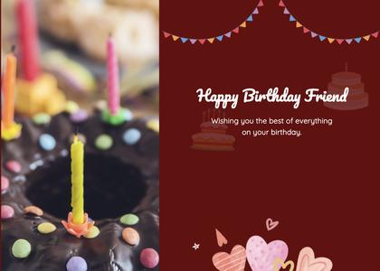 birthday card 25 candle cake