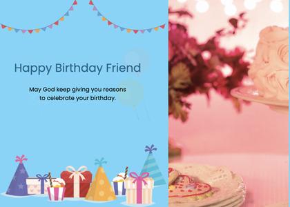 birthday card 31 meal food