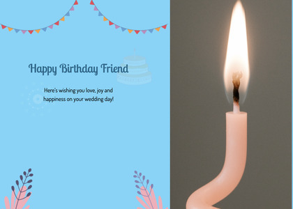 birthday card 33 candle fire