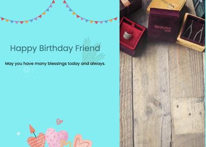birthday card 34 text box