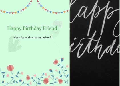 birthday card 38 text handwriting