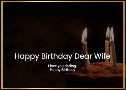 birthday card 54 candle cake