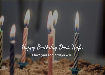 birthday card 57 candle dessert