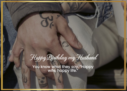 birthday card 75 skin hand