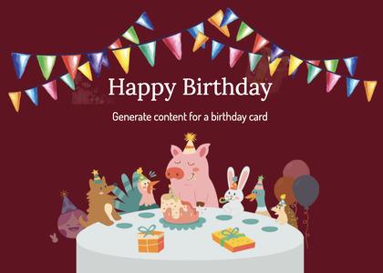 birthday card 83 advertisement poster
