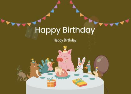 birthday card 85 advertisement poster