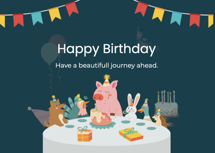 birthday card 88 advertisement poster